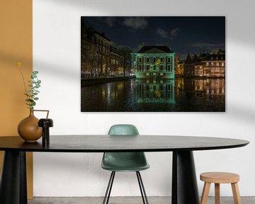 Projection du puits sur le Mauritshuis sur Marian Sintemaartensdijk