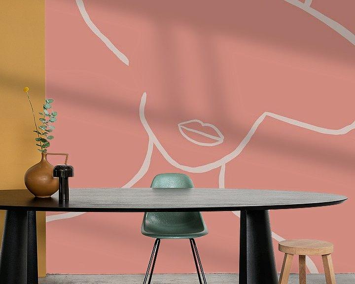 Sfeerimpressie behang: Trots. van YOPIE illustraties