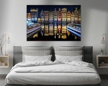 Amsterdamse Huizen aan het Damrak van Fotografiecor .nl