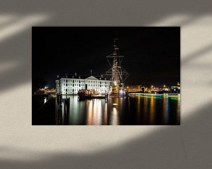 Sfeerimpressie: Scheepvaartmuseum en VOC Schip Amsterdam van Fotografiecor .nl