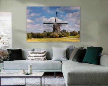 Historische molen in een landschap van Bram van Broekhoven