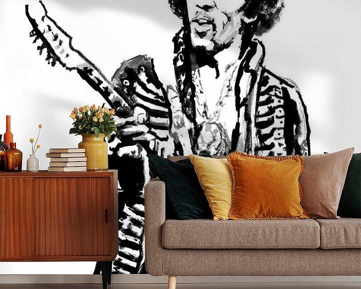 Beispiel fototapete: Jimi Hendrix von Péchane Sumie