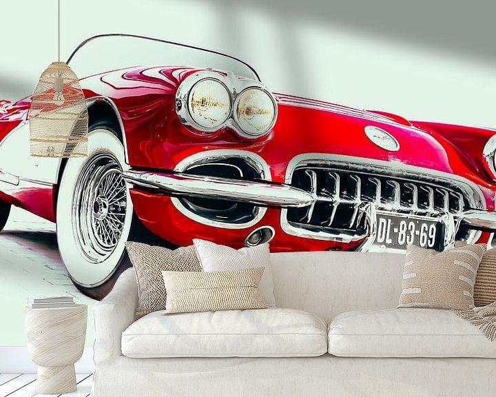 """Sfeerimpressie behang: """"Little Red Corvette"""" van marco de Jonge"""