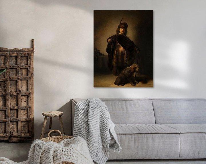 Beispiel: Porträt des Künstlers in orientalischer Tracht, Rembrandt van Rijn