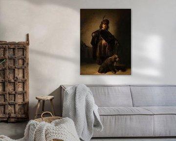 Portrait de l'artiste en costume oriental, Rembrandt van Rijn