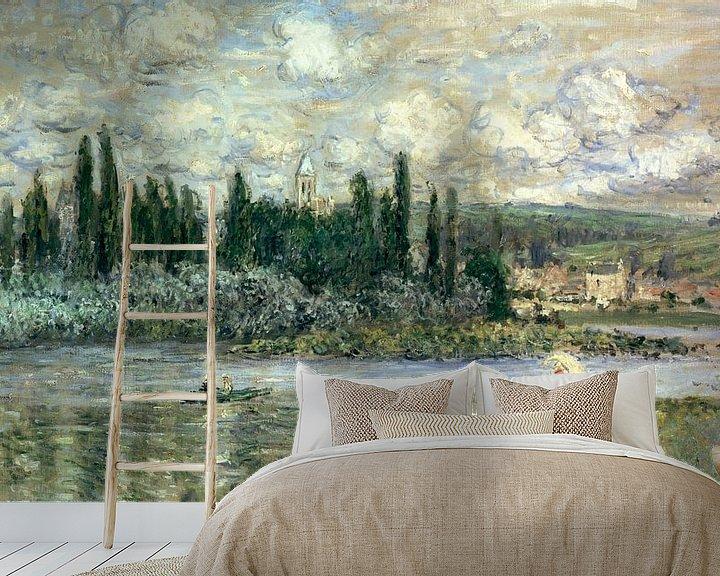 Beispiel fototapete: Blick auf Vétheuil, Claude Monet