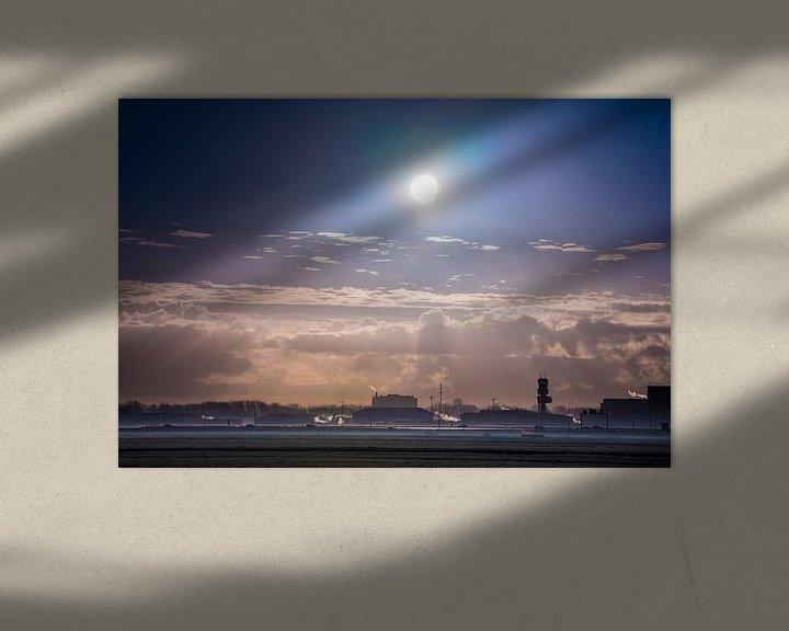 Beispiel: Der Flughafen Rotterdam im Morgennebel von Fred Leeflang