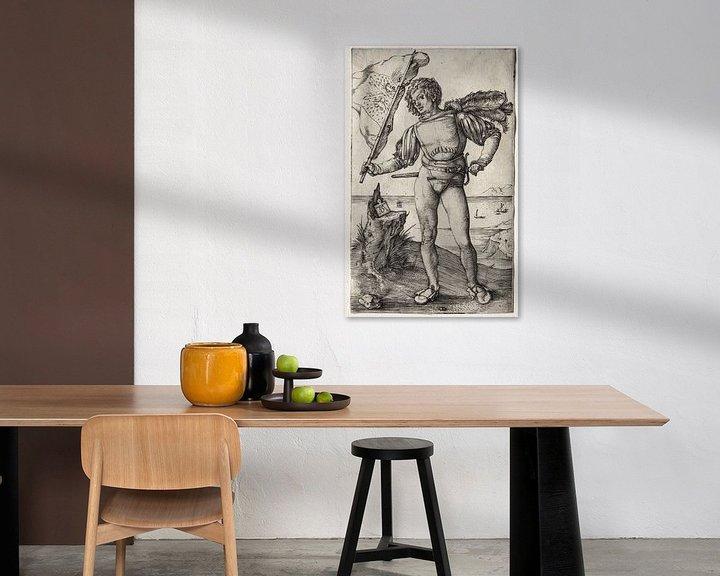 Beispiel: Der burgundische Fahnenträger, Albrecht Dürer von De Canon