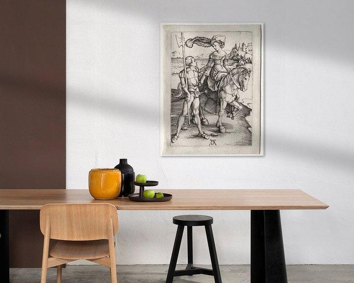 Beispiel: Fahrende Frau mit Landsknecht, Albrecht Dürer von De Canon