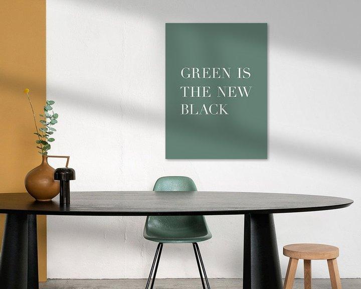 Beispiel: Grün ist das neue Schwarz - Text Poster - Typografie von MDRN HOME