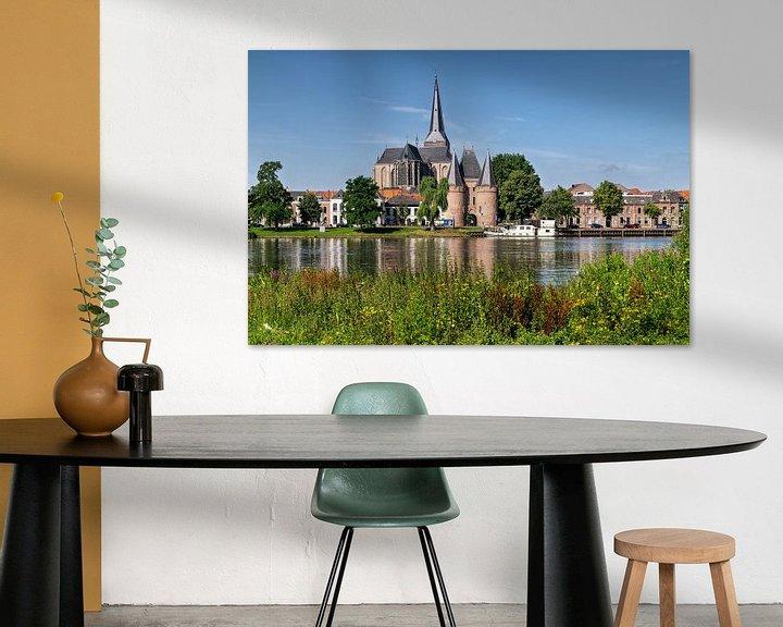Sfeerimpressie: Stadsfront Kampen met Bovenkerk en Koornmarktspoort van Fotografie Ronald