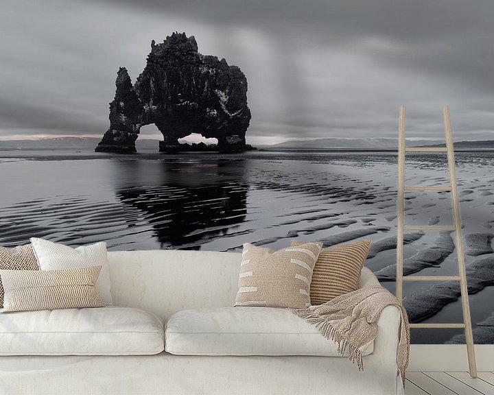 Beispiel fototapete: Island - Felsformation Hvitserkur von Ralf Lehmann
