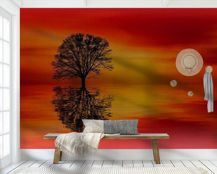 """Sfeerimpressie behang: """"Artwork"""" van Maarten Kost"""