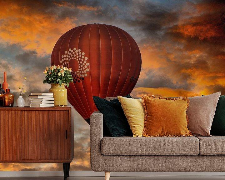 Sfeerimpressie behang: Balloon van Maarten Kost