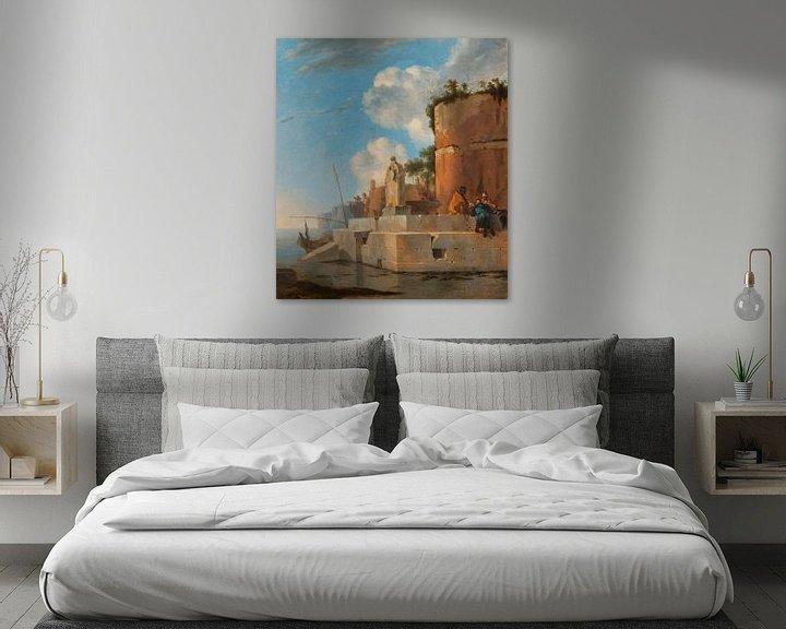 Beispiel: Eine Küstenruine in Italien, Jan Asselijn