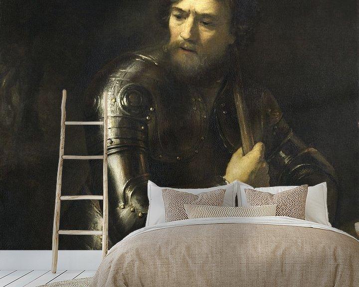 Beispiel fototapete: Porträt eines Offiziers im Geschirr, Willem Drost