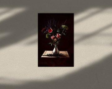 Stilleben mit Blumen 2 von Wendy Tellier - Vastenhouw