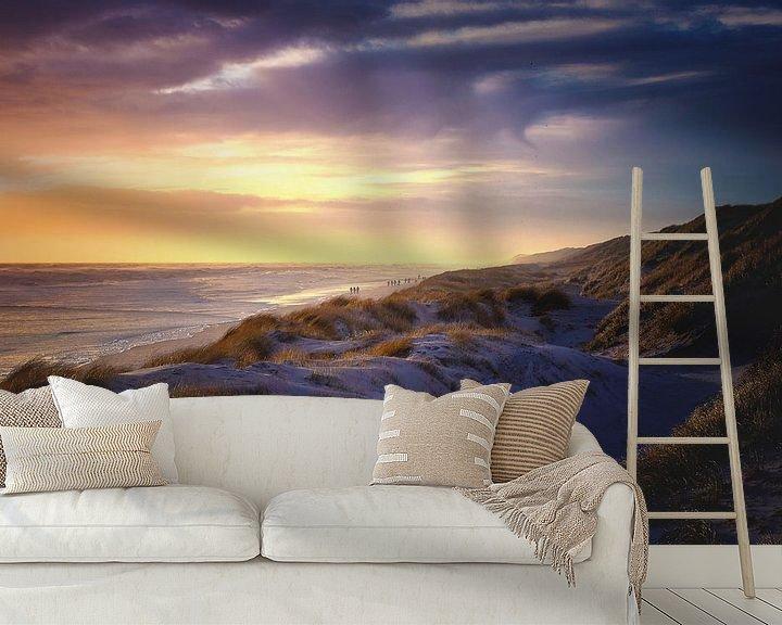 Sfeerimpressie behang: Spitsuur aan de Deense kust van Florian Kunde