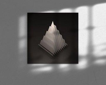 Geometrisch lichaam: Piramide (met tekst) van Jörg Hausmann