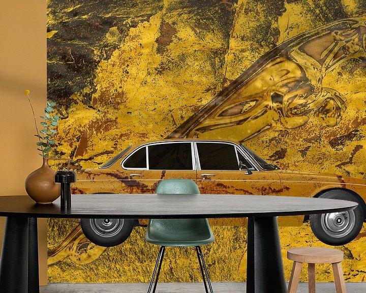 Sfeerimpressie behang: Jaguar XJ Art Car met Leaper van aRi F. Huber