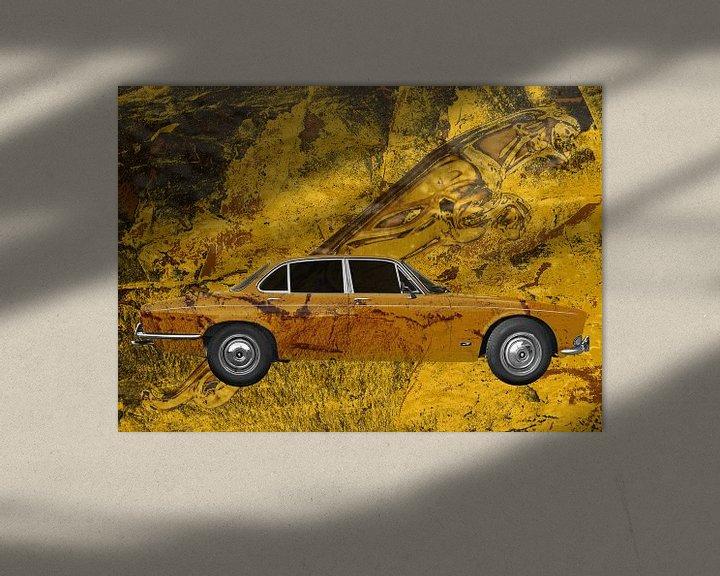 Sfeerimpressie: Jaguar XJ Art Car met Leaper van aRi F. Huber