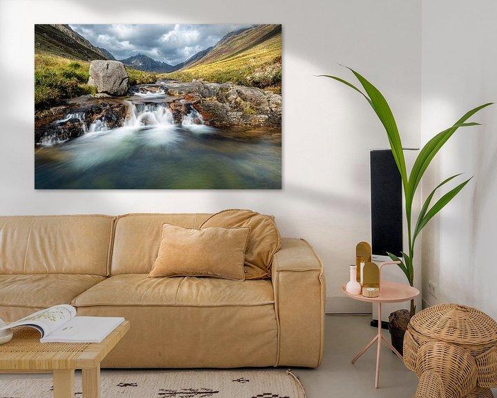 Beispiel: Märchenhafte Wasserfälle in Glen Rosa, Schottland von Rob IJsselstein