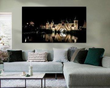 Koppelpoort bei Nacht von Jan van der Knaap