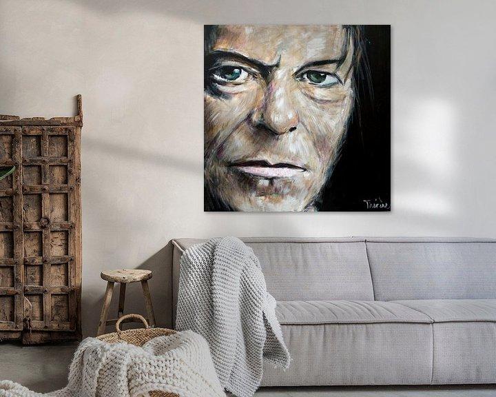 Sfeerimpressie: Portret van David Bowie, David Robert Jones van Therese Brals