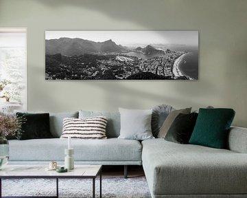 Rio de Janeiro panorama (Zwart-wit) van Merijn Geurts