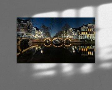 Verlichte brug Amsterdam