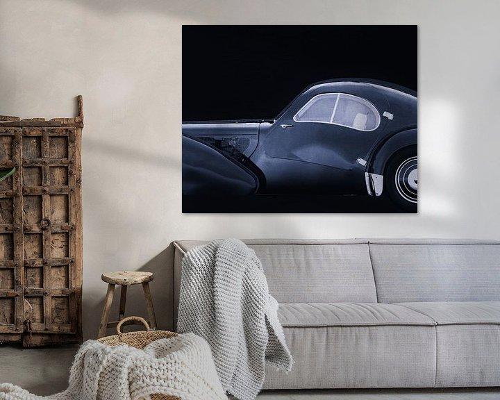 Sfeerimpressie: Bugatti Phoenix 57-SC Atlantic 1938 B&W van Jan Keteleer