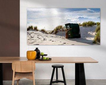 Avondstemming op het strand - Panorama van Christoph Schaible