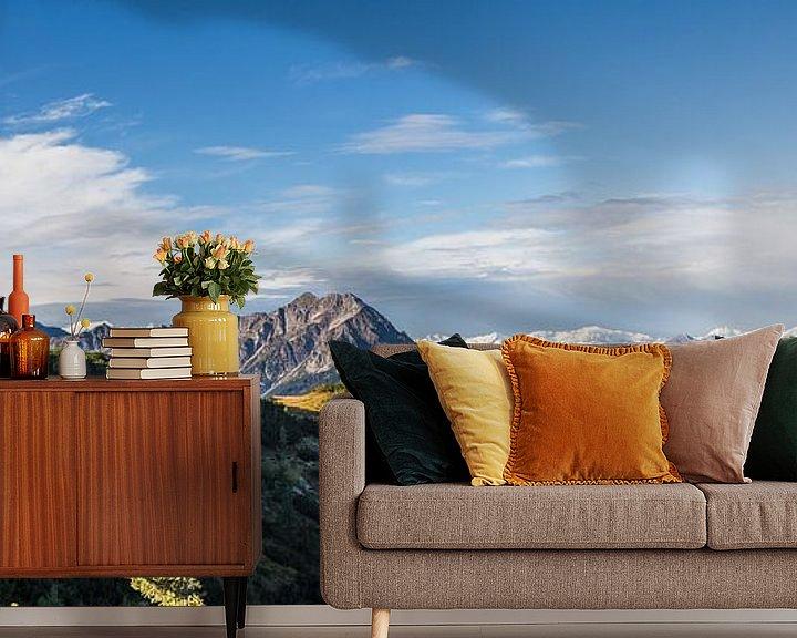 """Sfeerimpressie behang: Panorama """"Bergen in de herfst"""" van Coen Weesjes"""