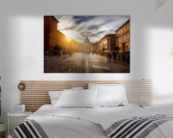 Sfeerimpressie: Zonsondergang in Rome van Eus Driessen
