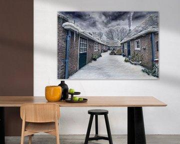 Winter in Brielle van Martin Simmons
