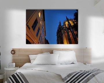 Achter de Dom en Domkerk in Utrecht von Donker Utrecht