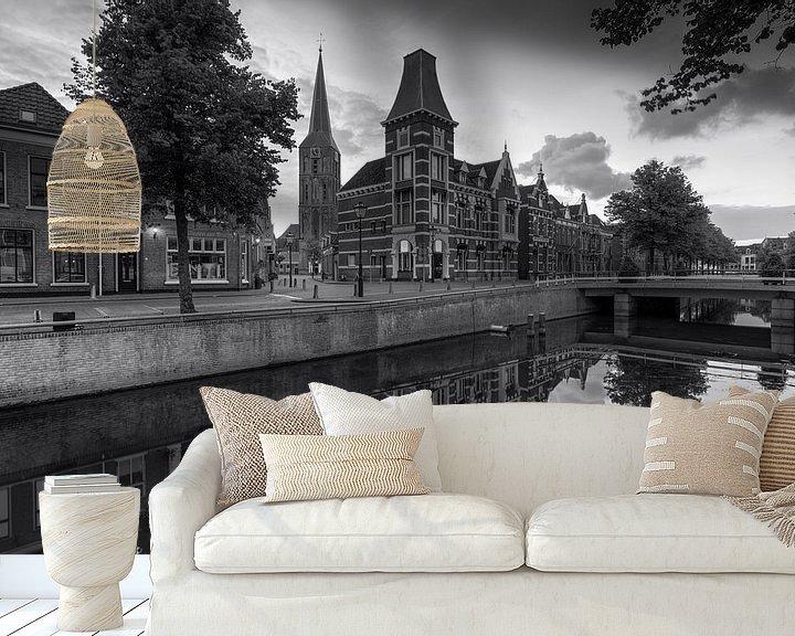 Sfeerimpressie behang: Voormalig gerechtsgebouw aan de Burgwal 29 te Kampen van Fotografie Ronald