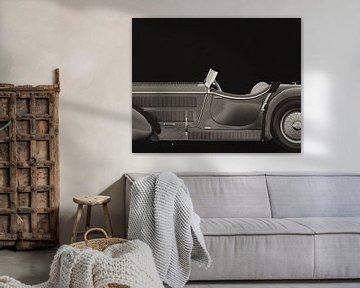 Mercedes - Benz SSK710 1930 B&W