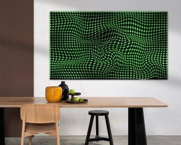 abstraktes grünes 3D-Design von EnWout
