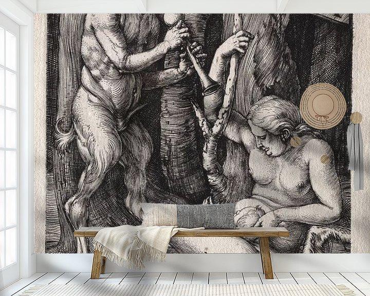 Sfeerimpressie behang: Satyr-familie, Albrecht Dürer van De Canon