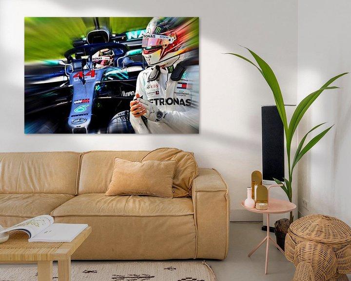 Beispiel: Lewis Hamilton - F1 World Champion 2008, 2014, 2015, 2017, 2018, and 2019 von Jean-Louis Glineur alias DeVerviers