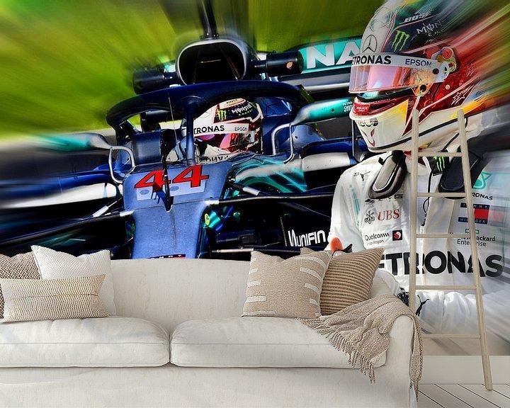 Beispiel fototapete: Lewis Hamilton - F1 World Champion 2008, 2014, 2015, 2017, 2018, and 2019 von Jean-Louis Glineur alias DeVerviers