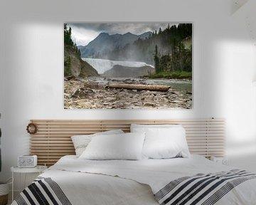 Wapta Falls of the Kicking Horse River, Yoho National Park, British Columbia, Canada. van Alexander Ludwig