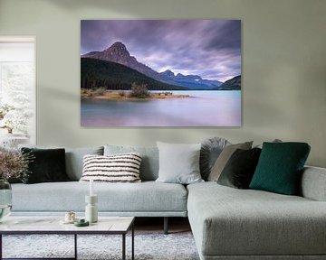 Watervogelmeren, Banff National Park, Icefields Parkway, Alberta, Canada van Alexander Ludwig