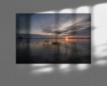 Zonsondergang boven meertje bij Eiland van Maurik van Moetwil en van Dijk - Fotografie