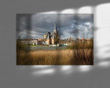 Kampen en front de ville avec Bovenkerk et Koornmarktspoort