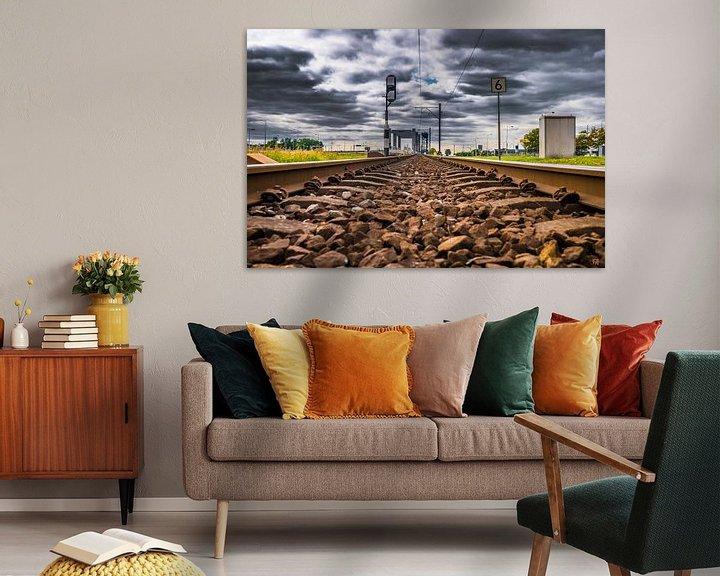 Beispiel: Eisenbahnschienen mit Wolken von Fred Leeflang