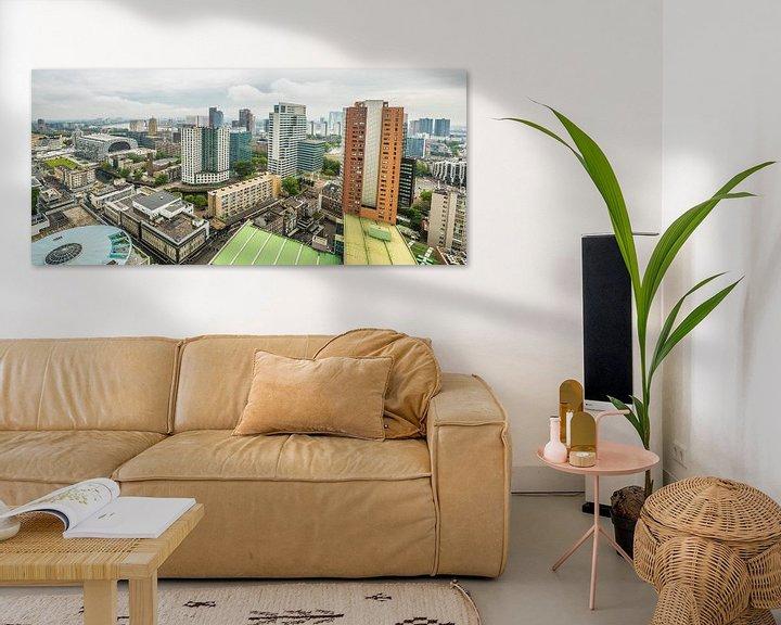 Beispiel: Panorama des Zentrums von Rotterdam von Fred Leeflang