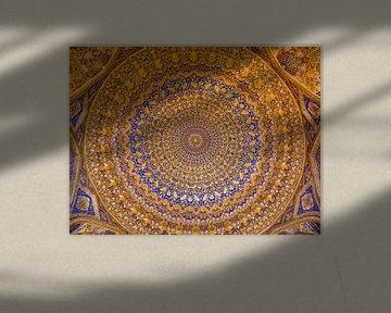 Goldene Decke Tilya-Kori-Madrasa (4:3) von Marien Bergsma