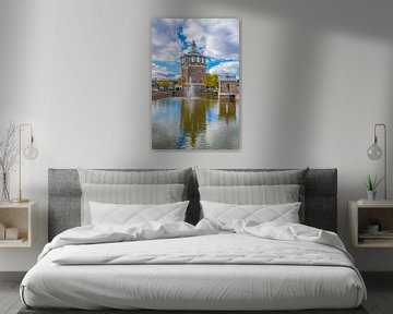 Watertoren in Rotterdam van Fred Leeflang